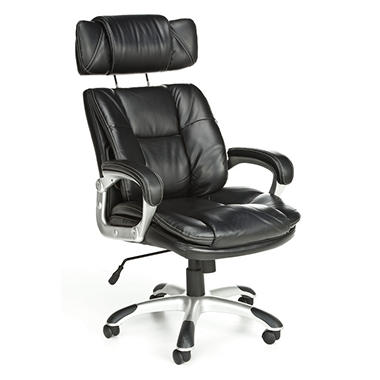 Oro Series Adjustable Back Bolster Executive Chair, Black