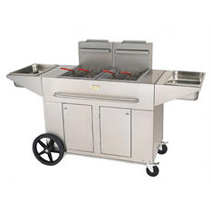 Double Portable Propane Fryer