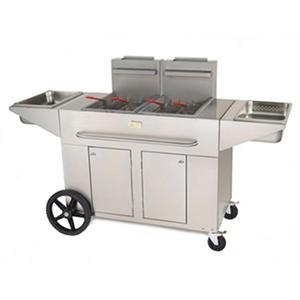 Double Portable Propane Fryer