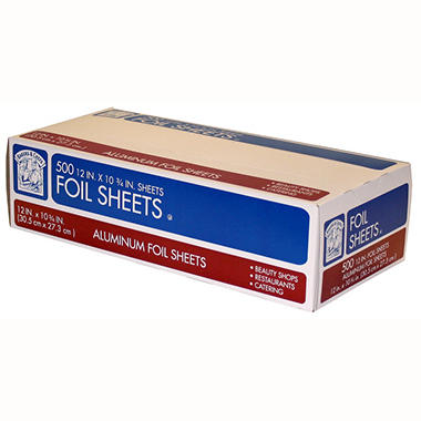 Bakers & Chefs Foil Sheets 12 x 10.75 in. - 500 ct.