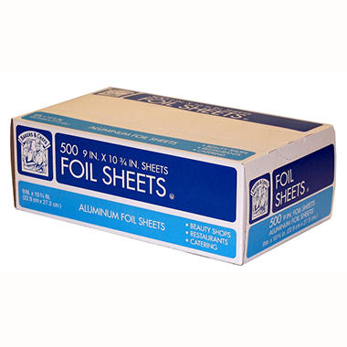 Bakers & Chefs Foil Sheets 9 x 10.75 in. - 500 ct.