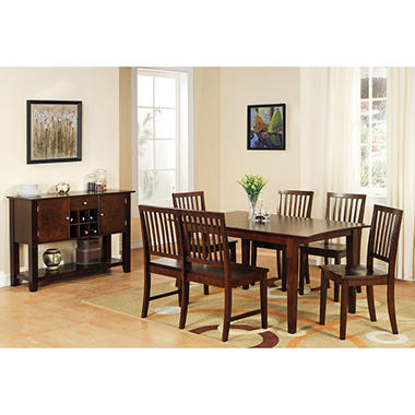 Ava Espresso Dining Set -  7 pc.