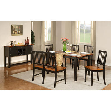 Ava Cherry and Black Dining Set - 5 pc.