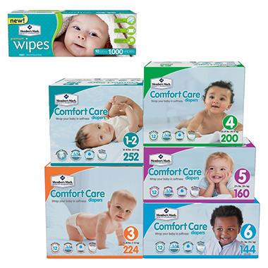 Member S Mark Comfort Care Diaper And Wipe Bundle Choose