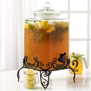 Tabletops Gallery Glass Drink Dispenser with Stand - 4.75 gal.