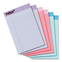 TOPS - Prism Plus Colored Junior Legal Pads, 5 x 8, Pastels -  6 50-Sheet Pads/Pack