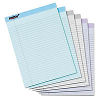 TOPS - Prism Plus Colored Pads, Legal Rule, Letter, Pastels -  6 50-Sheet Pads/Pack