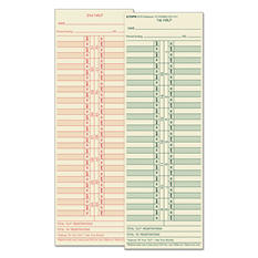 TOPS - Time Card for Cincinnati/Lathem/Simplex/Acroprint, Semi-Monthly -  500/Box