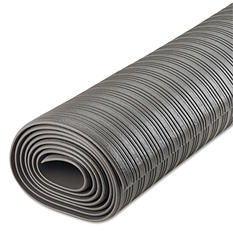 Crown - Ribbed Anti-Fatigue Mat, Vinyl, 36 x 120 -  Gray