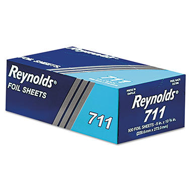 "Reynolds Pop-Up Foil Sheets, 9"" x 10 3/4"", 500 Sheets per Box - 6 Boxes"