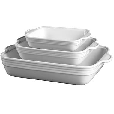 Rectangular Porcelain Baker Set - 3 pc.