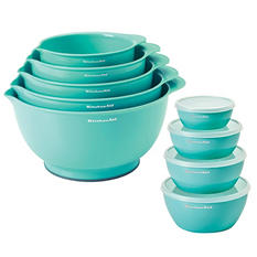 KitchenAid Mixing Bowls & Prep Bowls 9-Piece Set (Assorted Colors)