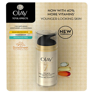 Olay Total Effects Anti-Aging Moisturizer - 3.4 oz. - Fragrance Free SPF 15