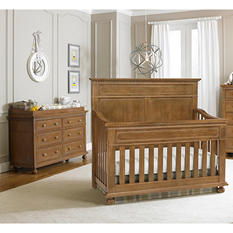 Dolce Babi Naples 3-Piece Nursery Collection, Harvest Brown