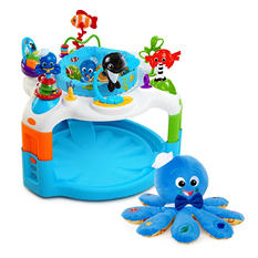 Baby Einstein Saucer & Plush Toy Bundle