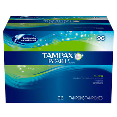 Tampax Pearl Tampons - Super - Unscented - 96 ct.