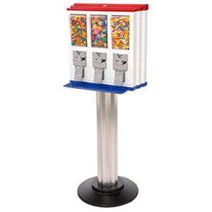 Northwestern Triple Play Vending Machine with Stand - Red/White/Blue