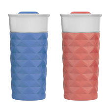 Ello Ogden BPA-Free Ceramic Tumblers, Set of 2 (Assorted Colors)