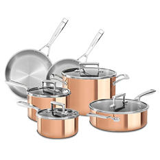 KitchenAid Copper CLAD Tri-Ply 10-Piece Cookware Set