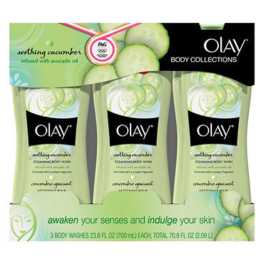 Olay Collections Body Wash - Soothing Cucumber - 23.6 fl. oz. - 3 ct.