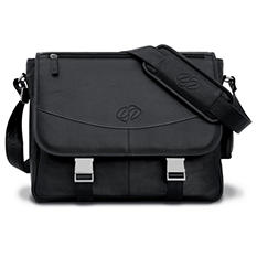 MacCase Premium Leather Large Shoulder Bag - Black