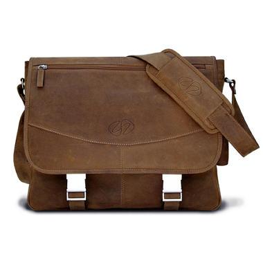 MacCase Premium Leather Large Shoulder Bag - Vintage