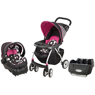 Evenflo Journey 300 Travel System / Car Seat Base Bundle - Marianna - Free Standard Shipping