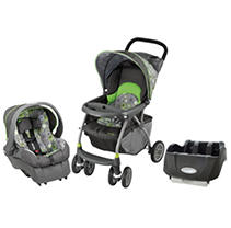 Evenflo Journey 300 Travel System / Car Seat Base Bundle - Pinwheel - Free Standard Shipping