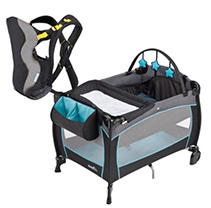 Evenflo Portable BabySuite 300 Playard / Soft Carrier Bundle - Koi - Free Standard Shipping