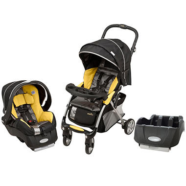 Evenflo Featherlite Travel System 400 / Car Seat Base Bundle - Tangerine - Free Standard Shipping