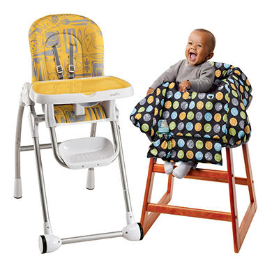 Evenflo Modern 200 Highchair / Multi-Use Cover Bundle - Tangerine - Free Standard Shipping