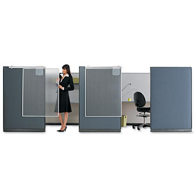 Quartet - Workstation Privacy Screen - Translucent Clear