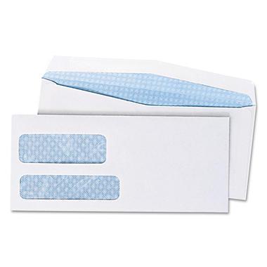 Quality Park - Double Window Envelopes, #9, Security Tint, Gummed - 1,000 Count