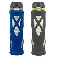 Zulu Atlas 2pk Glass Water Bottle (Various Colors)