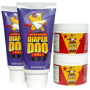 Super Duper Diaper Doo™ Flip-Lid/Jar, 4 pk.
