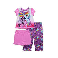My Little Pony Girls 3-Piece Pajama Set