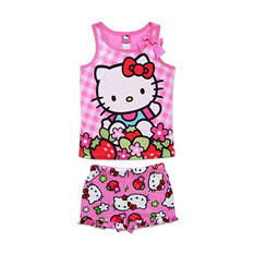 Hello Kitty Girl's Tank Top and Boxer Set