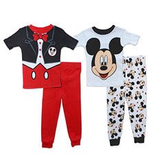 Disney's Mickey Mouse Toddler Boy 4-Piece Cotton Pajama Set