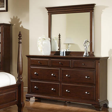 Brinley Cherry Dresser and Mirror .