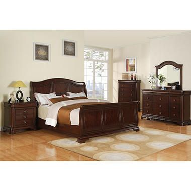 conley sleigh bedroom set king 5 pc sam 39 s club