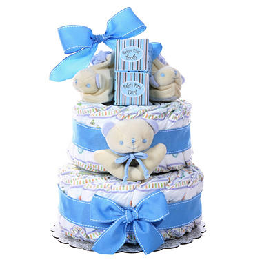 Boy's Two Tier Diaper Cake