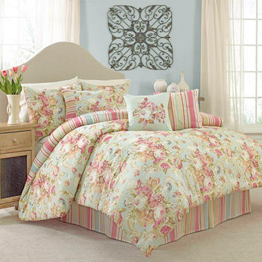 Glorious Garden 7-Piece Comforter Set Various  14370BEDDQUEVPR