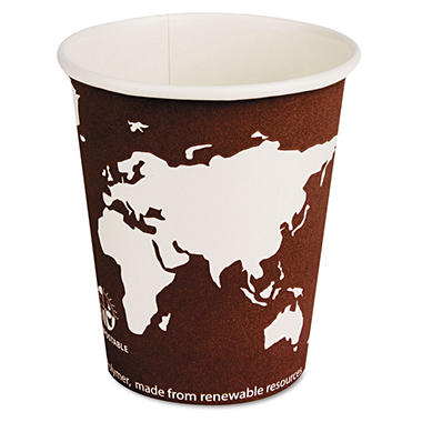 Eco-Products Eco Paper Hot Cups - 8 oz. - 1000 Cups