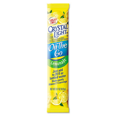 Crystal Light On The Go Soft Drink Mix, Lemonade (.17 oz. packet, 30 ct.)