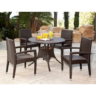 Riely Wicker 5 Piece Outdoor Dining Set Sam 39 S Club