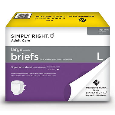 Simply Right Unisex Briefs, Large - 48 ct.