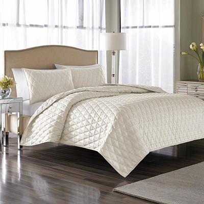 Nicole Miller Serenity Coverlet Set, King (3 pc. set)