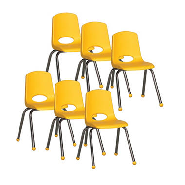 "Children's 16"" Stack Chair - Various Colors - 6 Pack"
