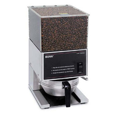 Bunn� Low Profile Coffee Grinder with 1 Hopper