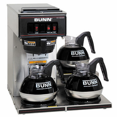 Bunn® VP17-3 Commercial Pourover Brewer with 3 warmers